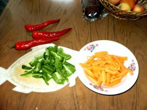 Глазунья с овощами