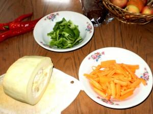 Глазунья с овощами 2