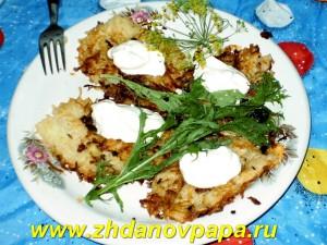 Драники из картошки с кабачком