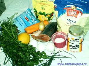 ингредиенты слоеного блинчатого пирога