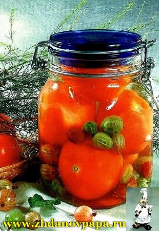 томаты с крыжовником