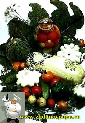 ассорти из огурцов, томатов и патиссонов