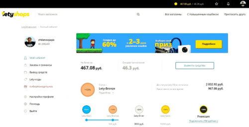 Кэшбэк сервис LetyShops - как он помогает экономить при покупках в интернете.